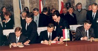 The Visegrád Group signing ceremony in February 1991