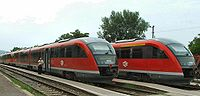 Siemens Desiro on Hungarian State Railways network, which is one of the densest in the world
