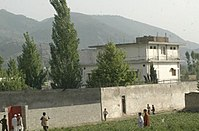 View of Osama bin Laden's compound in Abbottabad, Pakistan, where he was killed on May 1, 2011