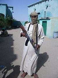 Al-Qaeda militant in Sahel armed with a Type 56 assault rifle, 2012