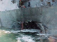 USS Cole after the October 2000 attack