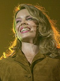 """Minogue performing """"Waltzing Matilda"""" at the opening ceremony of the 2000 Sydney Summer Paralympics"""