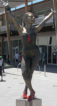 Bronze statue of Minogue at Waterfront City, Docklands, Melbourne