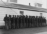 Soldiers of the Fourth United States Colored Infantry at Fort Lincoln, 1865