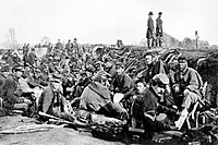Union soldiers before Marye's Heights, Fredericksburg, May 1863