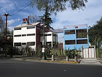 Frida Kahlo and Diego Rivera house in San Ángel designed by Juan O'Gorman, an example of 20th-century Modernist architecture in Mexico