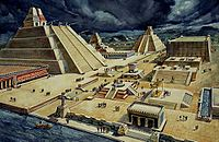 The city was the place of Mexico-Tenochtitlan, the Aztec capital.