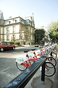 Bicycles available for rental in Zona Rosa