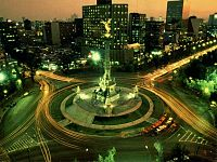 The Paseo de la Reforma with Angel of Independence monument.