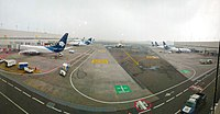 Terminal 2 runway of the Mexico City airport
