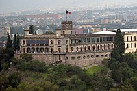Chapultepec Castle built between 1785 and 1864. It was built at the time of the Viceroyalty as a summer house for the Viceroy, it was also the official residence of Emperor Maximilian I of Mexico (1864–1867) and the presidents of the country between 1884 and 1935.