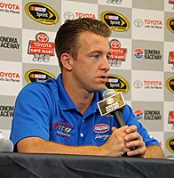 A. J. Allmendinger scored his first career Cup Series win.