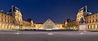 Pyramid of the Louvre Museum in Paris by I. M. Pei (1983–89)