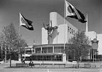 Pavilion of the Ford Motor Company, in the Streamline Moderne style