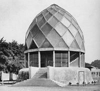 The Glass Pavilion in Cologne by German architect Bruno Taut (1914)