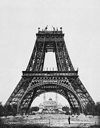 The Eiffel Tower being constructed (August 1887–89)