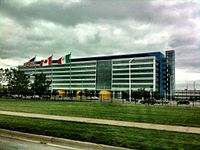 Main building of the General Motors Technical Center (1949–55)