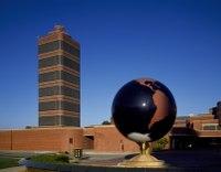 The tower of the Johnson Wax Headquarters and Research Center (1944–50)