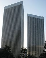 The Century Plaza Towers in Los Angeles, California (1975)