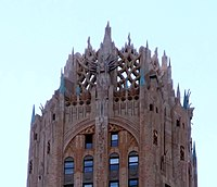 Crown of the General Electric Building (also known as 570 Lexington Avenue) by Cross & Cross (1933)