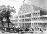 The Crystal Palace (1851) was one of the first buildings to have cast plate glass windows supported by a cast-iron frame