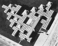 """Municipal Orphanage in Amsterdam by Aldo van Eyck (1960), """"Aesthetics of Number"""", architectural movement Structuralism."""