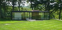 The Glass House by Philip Johnson in New Canaan, Connecticut (1953)