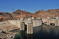 Intake towers of Hoover Dam (1931–36)