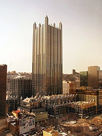 PPG Place in Pittsburgh, Pennsylvania, by Philip Johnson (1981–84)