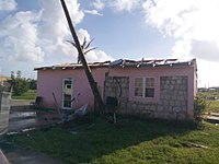 A house in Barbuda that was badly damaged by the hurricane