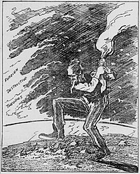 Cartoon by Archibald B. Chapin on the South Bend News-Times – November 8, 1919