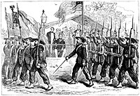 Review of the Garibaldi Guard by President Abraham Lincoln