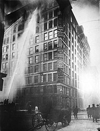 The Triangle Shirtwaist Factory fire in 1911. The victims were almost exclusively Jewish and Italian female immigrants