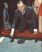 Sinatra at Grauman's Chinese Theatre in 1965