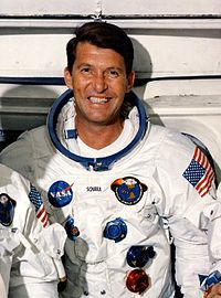 Wally Schirra one of the earliest NASA astronauts to enter into space (1962), taking part in the Mercury Seven program and later Gemini and Apollo programs.
