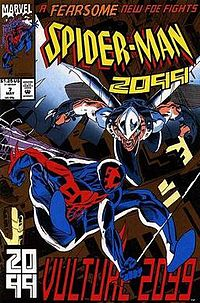 Spider-Man 2099 and Vulture 2099 on the cover of Spider-Man 2099#7