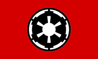 The flag and iconography of the Empire resembles those of the Nazi Party and Germany during its rule.