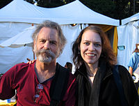 Welch with Bob Weir of the Grateful Dead at Hardly Strictly Bluegrass, 2006