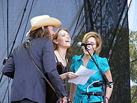 David Rawlings, Welch and Alison Krauss performing at the 2008 Austin City Limits Music Festival