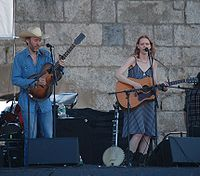 Rawlings and Welch performing at the 2009 Newport Folk Festival