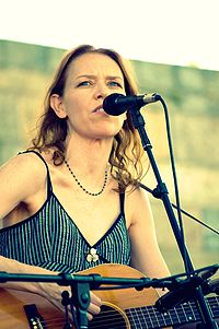 Welch performing at the 2009 Newport Folk Festival