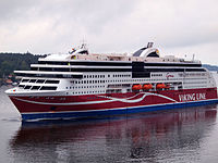 Viking Grace, one of many cruiseferries on the routes to Finland and the Åland Islands.