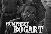 Bogart with his trademark scruff in the trailer for The Treasure of the Sierra Madre (1948)