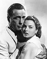 With Ingrid Bergman in Casablanca (1942), which earned Bogart the first of three Oscar nominations