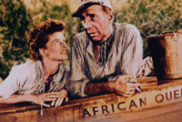 With Katharine Hepburn in a publicity photo for The African Queen