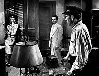 Lauren Bacall and Marcel Dalio with Bogart in To Have and Have Not