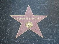 Bogart's star on the Walk of Fame, at 6322 Hollywood Boulevard
