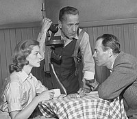 Bacall, Bogart and Henry Fonda in the televised version of The Petrified Forest (1955)