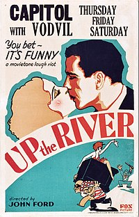 Claire Luce and Bogart on a promotional poster for the 1930 film Up the River, where he met co-star Spencer Tracy