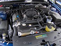 5.4 L 4-valve DOHC supercharged V8 installed in a 2007 Ford Shelby GT500